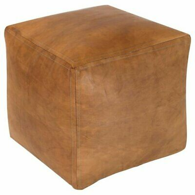 Square Pouf Ottoman Leather New Moroccan Large Pouffe Handmade Cover Footstool