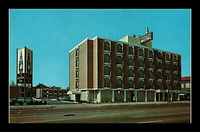 Dr Jim Stamps Us London Inn Motel Detroit Michigan Chrome Postcard