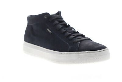 GEOX U RICKY B Mens Leather Trainers Casual Shoes Navy
