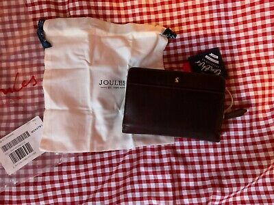 Joules Womens Wyton Leather Purse - Oxblood - New With Tags & Still Sealed