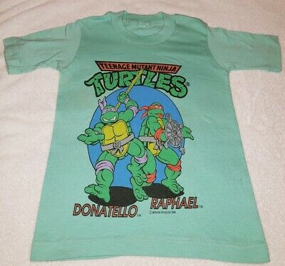 Tmnt Teenage Mutant Ninja Turtles Donatello Raphael 1989 Shirt Mirage Small Used
