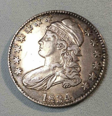 1834 Bust Half Dollar Large Date Large Letters XF Nice