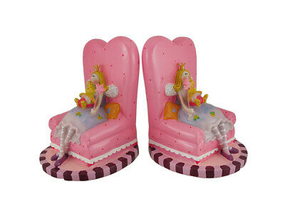 Fairy Princess and Teddy Bear On a Sofa Bookends Set of 2