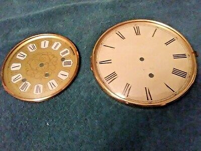 Old Brass Clock Dial Westminister Face Convex Glass & West Germany Clock Parts