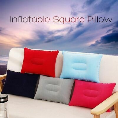 Car Travel Flocking Cushion Square Inflatable Air Pillow Hiking Camping Rest