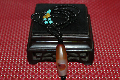 Tibet praying that the emperor Tencel old agate necklace gzi Tibet