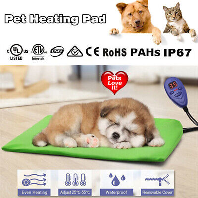 Waterproof Pet Electric Heat Heating Heated Pad Mat Thermal Protection E0Xc