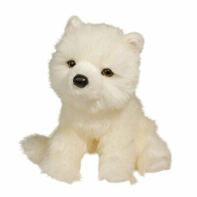 New DOUGLAS CUDDLE TOY Stuffed Soft Plush Animal SAMOYED White Puppy Dog 12""