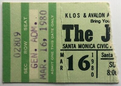 The Jam Original Used Concert Ticket Santa Monica Civic Auditorium 16th Mar 1980