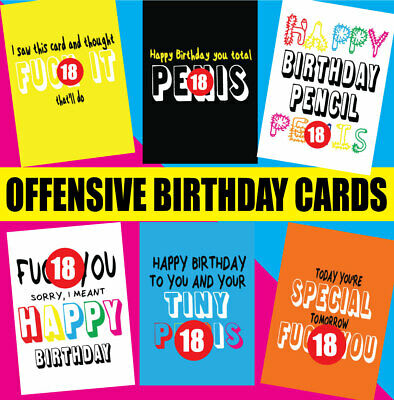 Rude Offensive Birthday Cards Rude Mum Dad Friend Brother Sister Best Friend