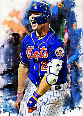 2020 Pete Alonso New York Mets 3/25 Art ACEO Sketch Print Card By:Q