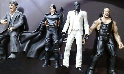 Mixed 6 inch figures McFarlane Scarface Zoro The Undertaker and DC Ghost Rider
