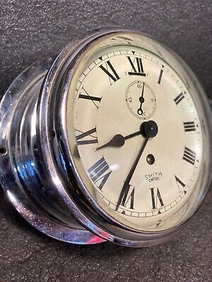 "Smiths Empire Chrome Porthole Ships 7"" Clock"