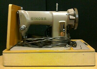 Vintage Semi-Industrial SINGER 185k Model Electric Sewing Machine in Case