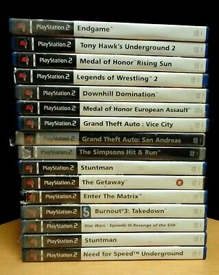 Bundle of 16 PS2 games including Grand Theft Auto and The Simpsons
