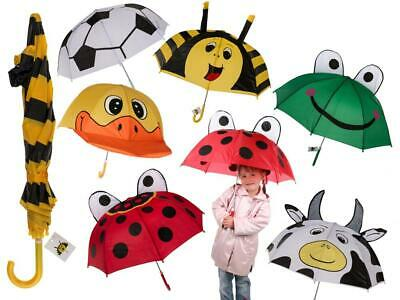 Kids Funky Animal Styled Brolly Umbrella