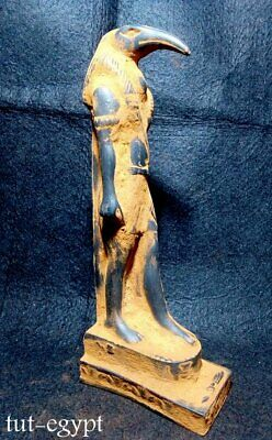 RARE ANTIQUE Statue God of Scribes Ibis The God of Ancient Egypt Sculpture