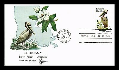 Dr Jim Stamps Us Louisiana State Bird Flower First Day Cover Gill Craft