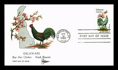 Dr Jim Stamps Us Delaware State Bird Flower First Day Gill Craft Cover