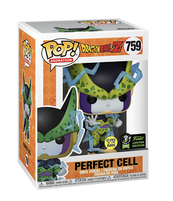 2020 Funko Pop ECCC OFFICIAL CON STICKER DBZ GITD Perfect Cell Preorder PROTECTO
