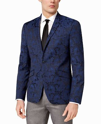 Reaction Kenneth Cole Mens Blazer Blue Size 48 Two Button Notch-Collar $105 191