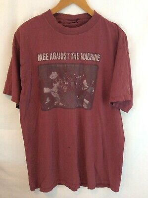 Vintage Rage Against The Machine Band T-Shirt Mens XL ? Maroon