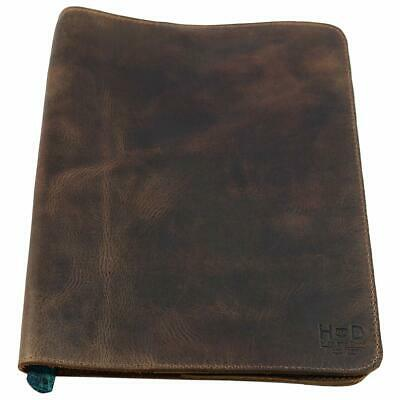 Hide  Drink, Rustic Leather Refillable Journal Cover For Moleskine Cahier Xl (7