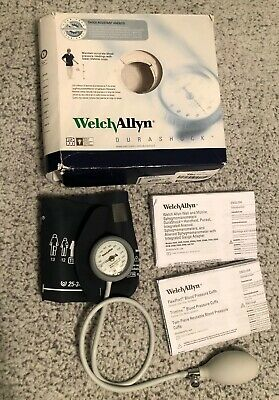 Welch Allyn DS44-11 DuraShock Sphygmomanometer, Adult Size; Gauge and cuff
