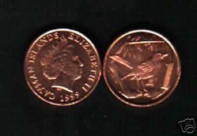 Great Cayman Thrush Cayman Islands 1999-1 Cent Copper Plated Steel Coin