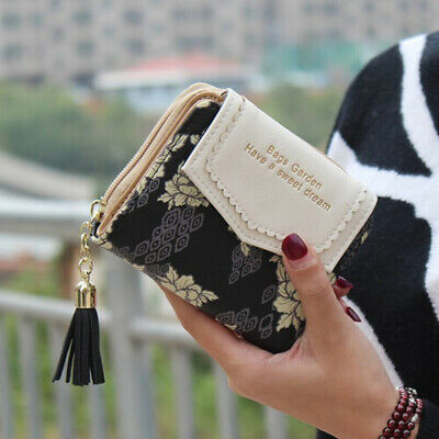 Women Short Small Money Purse Wallet Ladies Leather Folding Coin Card Holder CN