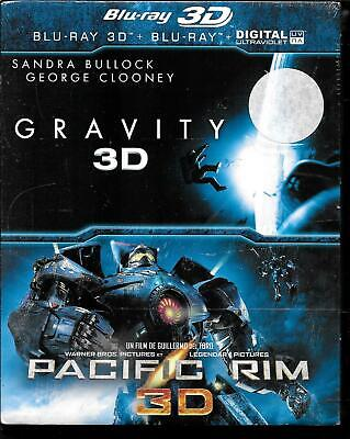 Coffret 2 Blu-Ray--Gravity / 3D & Pacific Rim / 3D--Neuf