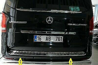 Mercedes Benz Vito Taxi W447 Chrome Arrière Protection Pare-chocs Scratch Guard S Steel