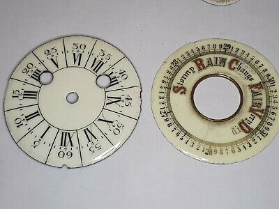 Antique clock Dials watchmakers lot