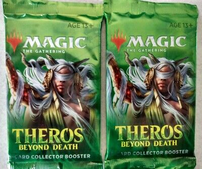 2 Factory Sealed MTG Theros Beyond Death Collector Booster Packs *FREE SHIPPING*
