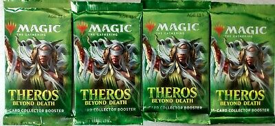 4 Factory Sealed MTG Theros Beyond Death Collector Booster Packs *FREE SHIPPING*