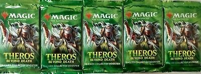 5 Factory Sealed MTG Theros Beyond Death Collector Booster Packs *FREE SHIPPING*