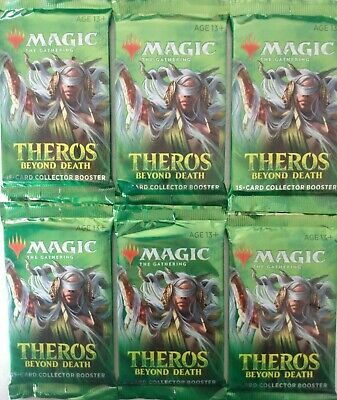 6 Factory Sealed MTG Theros Beyond Death Collector Booster Packs *FREE SHIPPING*