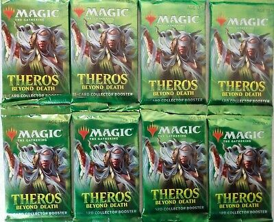 8 Factory Sealed MTG Theros Beyond Death Collector Booster Packs *FREE SHIPPING*