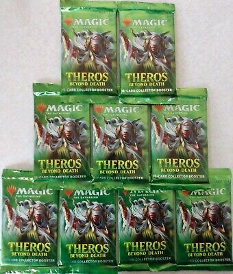 9 Factory Sealed MTG Theros Beyond Death Collector Booster Packs *FREE SHIPPING*
