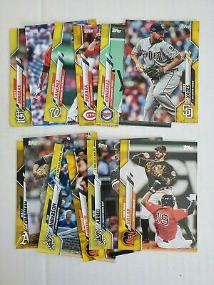 2020 Topps Series 1 Walgreens Exclusive Yellow - (12) Card Lot - Build Your Set