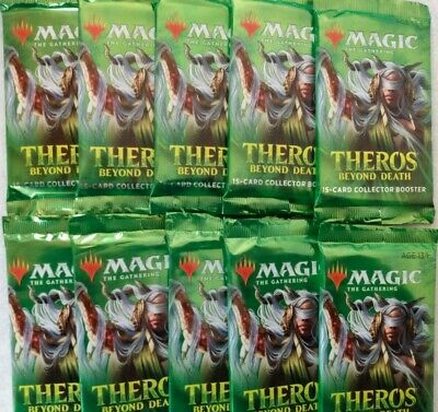 10 Factory Sealed MTG Theros Beyond Death Collector Booster Packs *FREE SHIPPIN*