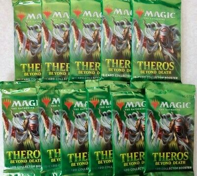 11 Factory Sealed MTG Theros Beyond Death Collector Booster Packs *FREE SHIPPIN*