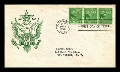 Dr Jim Stamps Us George Washington Presidential Series Fdc Cover Scott 839