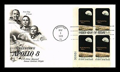 Dr Jim Stamps Us Apollo 8 Space First Day Cover Plate Block Art Craft
