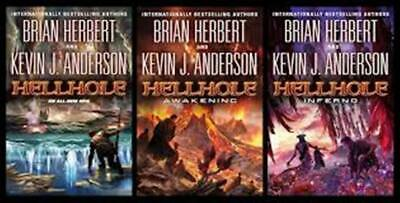 kevin j anderson / brian herbert hell hole trilogy [3 paperbacks as listed]