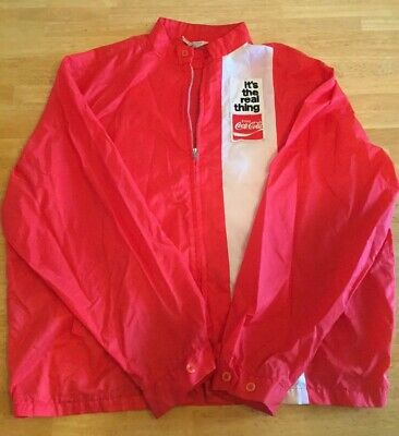 Vintage Coca-Cola It's The Real Thing Bonner Windbreaker Jacket Size Large