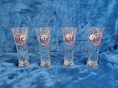 Vintage Miller Lite Super Bowl 34 Pilsner Glasses - Set of 4