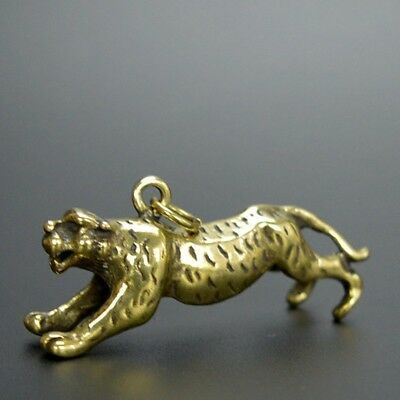 Chinese old collection handwork bronze Zodiac Tiger statue Pendant a59