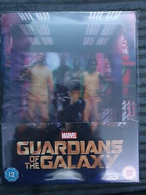 Guardians of the Galaxy blu ray steelbook lenticular zavvi sealed Marvel