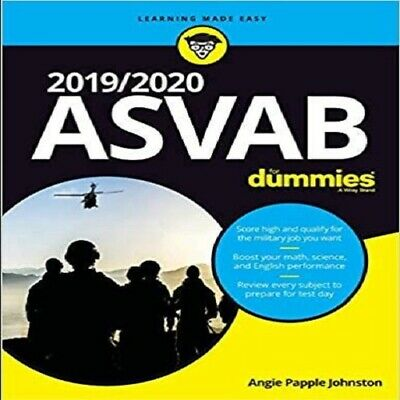 2019/2020 ASVAB for Dummies by Angie papple Johnston (Immediate Delivery) [P-D-F